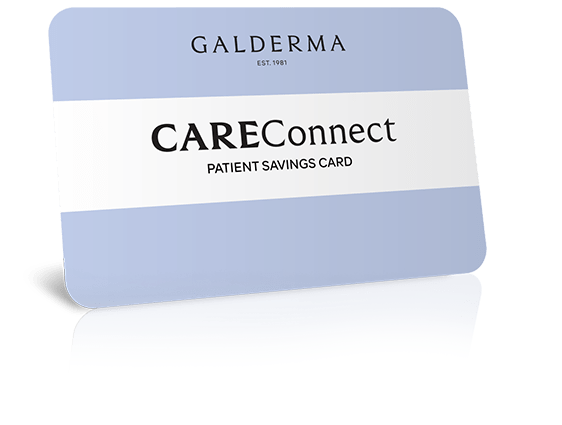 Image of the Galderma CareConnect card for helping your patients save on the cost of Epiduo® Forte Gel.